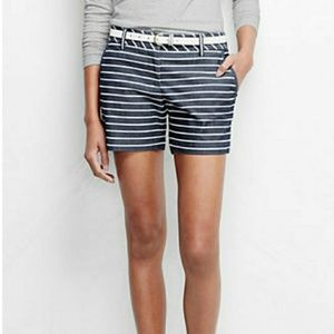 LANDS'END NAVY STRIPED SHORTS